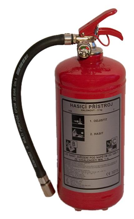 CA 2 LE - plynový s cistým hasivem hasicí prístroj