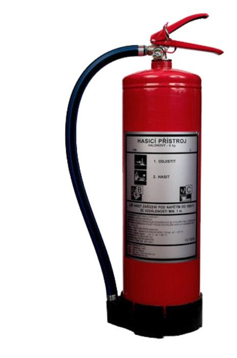 CA 6 LE - plynový s cistým hasivem hasicí prístroj
