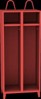 Dvouoddílová kovová šatní skrín pro hasice s držákem prilby