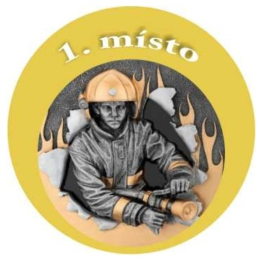 Emblém - hasič 1 - zlato