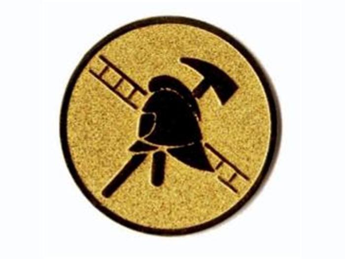 Emblém - hasičský znak, zlato, stříbro, bronz