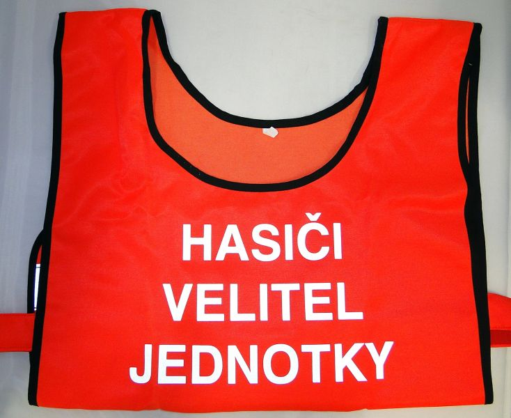 1834536d724 2x!! vesta VISA s nápisem Hasiči VELITEL JEDNOTKY (číslo aukce 1474)