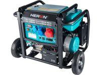 HERON elektrocentrála benzínová 17HP/8,2kW/10,25kVA (400V), 6,5kW (230V), podvozek, elektrický start