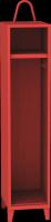Jednooddílová kovová šatní skrín pro hasice s držákem prilby