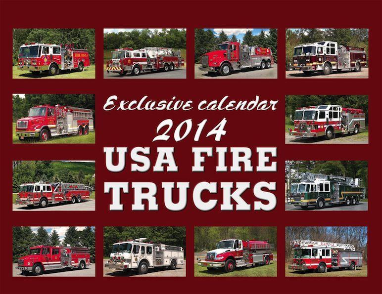 Kalendář USA FIRE TRUCKS 2014 - luxusní kalendář c341809bd2