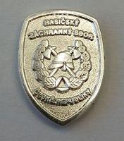 Odznak HZS na klopu stříbrný