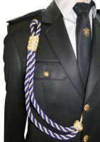 Ozdobná šnura na uniformu zlato-modrá 59d6e54407