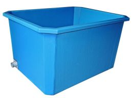 Požární nádrž laminátová 1000l s modrou vnejší povrchovou úpravou