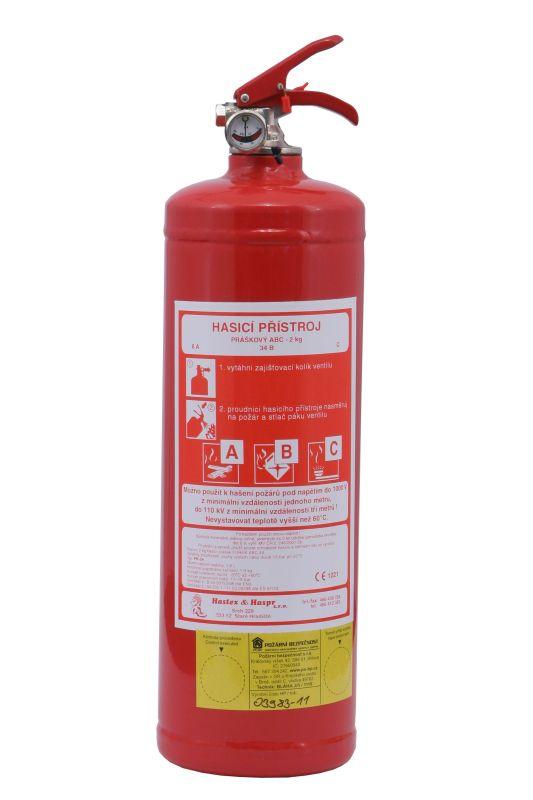 PR2e - práškový hasicí přístroj