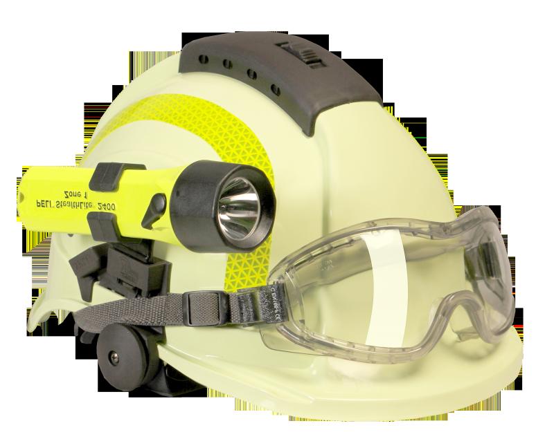 Pracovní přilba pro hasiče TYTAN HOT, ochranné brýle, luminiscenční