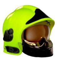 Prilba Gallet F1 SF se zlatým štítem vcetne zátylníku, barva fluorescencní