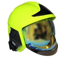 Prilba Gallet F1 XF - fluorescencní (zlatý štít)