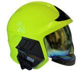 Přilba Gallet F1 XF - fluorescenční (zlatý štít) - boční strana