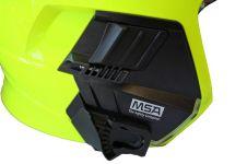 Přilba Gallet F1 XF - fluorescenční (zlatý štít) - detail