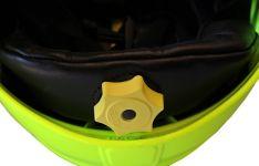 Přilba Gallet F1 XF - fluorescenční (zlatý štít) - kolečko