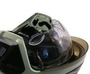 Přilba Gallet F1 XF - fotoluminiscenční (zlatý štít)