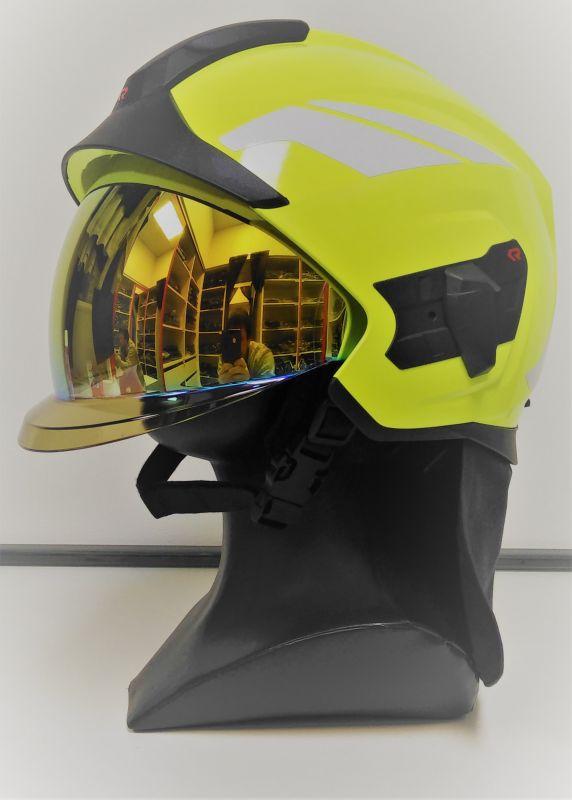 Prilba HEROS TITAN Rosenbauer signální žlutá-luminiscencní, zlatý štít