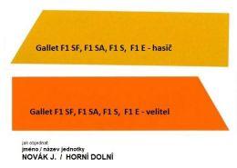 Reflexní páska 3M na prilbu Gallet F1 S, F1 SA, F1 SF,  F1 E s potiskem