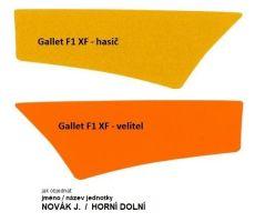 Reflexní páska 3M na prilbu Gallet F1 XF s potiskem