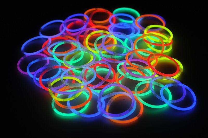 Svítící náramky - mix barev / 100 kusů