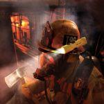 svítilna pro hasiče peli 3315 v akci