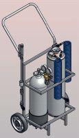 Tlakový rozstrikovac TR18l + prepravní vozík + tlaková nádoba