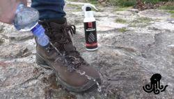 voda na ošetřené obuvi