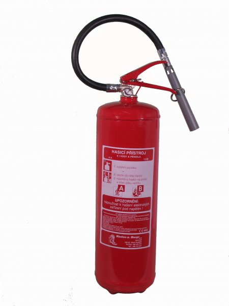 VP6TNC/P - pěnový hasicí přístroj  - nerezová nádoba