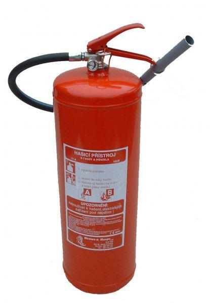 VP9TNC/P - penový hasicí prístroj - nerezová nádoba