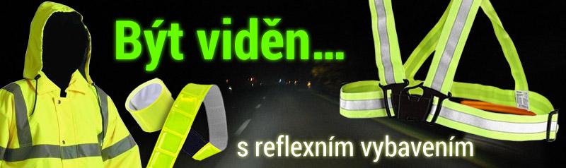 Být viděn s reflexním vybavením